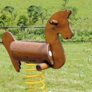 Качели балансир на пружине «Лошадка», дерево