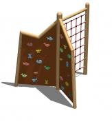 Игровая конструкция для лазанья «Альпы» 3 зоны