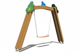 Качели детские МИНИ, подвесные «Сказочный лес» гибкое сиденье