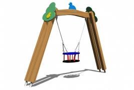 Качели детские МИНИ «Сказочный лес», сиденье-корзина