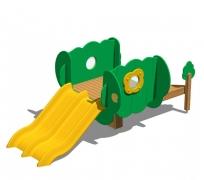 Детский игровой городок-горка «Сказочное дерево», модель 80-2