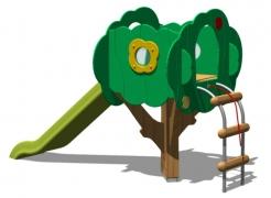 Детский игровой городок (горка) «Сказочное дерево», модель 150-2
