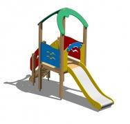 """Горка """"Ветер"""" для детской площадки дерево стекловолокно спуск в.1м"""