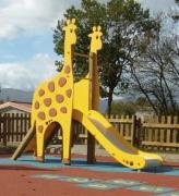 """Горка """"Жираф"""" для детской площадки дерево стекловолокно 97"""