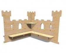 Игровая зона для детского сада  «Средневековый ЗАМОК»148x148 h120см
