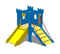 """Замок """"Ланселот"""" детский городок с подъемным мостом и горкой"""