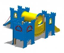 """Замок """"Сэр Бис"""", детский городок игровой, башни горки мост туннель"""