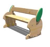 Детская мебель, скамейка «Яблоко» 34x94 h24см