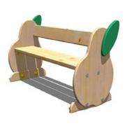 Детская мебель, скамейка «Груша» 34x94 h24см