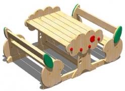 Набор мебели для детского сада «Яблоко»132x94 h24/44см