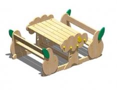 Набор мебели для детского сада «Груша»132x94 h24/44см