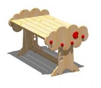 Стол детский «Яблоко» 60x94 h 44см, дерево
