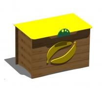 """Ящик для хранения игрушек """"Коробка с бананами"""""""