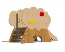 Мебель для детского сада, горка «Яблоня» подъем-жерди 206x90 h140см