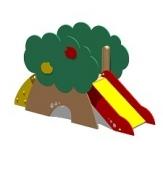 Горка детская игровая «Яблоня», дерево, лак, для 1-6лет