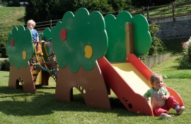 """Детский игровой комплекс """"Яблоневый замок"""" с деревянной лестницей"""