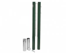 Стойки теннисные для корта зеленые ∅83мм CR TP83 круглые алюминий