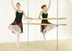 Стойка-держатель для балетного станка VARIO 2-я нерж. сталь, регулировка