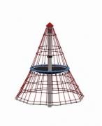 Детская карусель канаты, сталь «Пирамида большая», в.4,15м