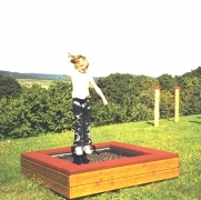 Батут МИНИ для детской площадки свободно стоящий 1,25х1,25м