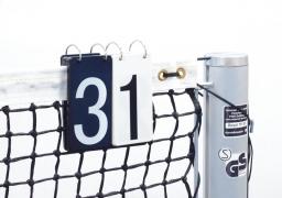 Табло перекидное 15х18см(11см) для теннисного корта на сетку