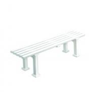 Скамейка для теннисного корта Munich пластиковая белая 1,50м