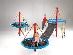 Детская канатная площадка «Фортуна-3» веревочный парк