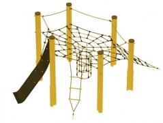 Дитячий майданчик Villa Spider на дерев'яних опорах, вис.2м.