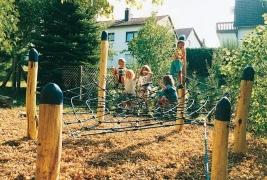 SPIDER ігровий майданчик, детская канатная площадка  для общественных зон