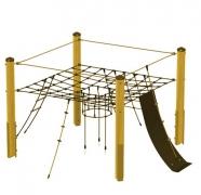 Площадка игровая «Замок в облаках» на мачтах из оцинкованной стали