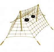 Детская площадка «ШАТЕР» на стальных мачтах, (сетка для лазанья)