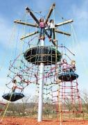 """Детская канатная площадка """"Орлиный дворец"""" спираль в.5,75м"""