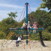 «Замок пиратов МИНИ» в.3,7м канатный для детской площадки