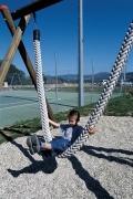 Качели подвесные детские канатные, серия «Jungle» 90х90мм, подвес 2,50м