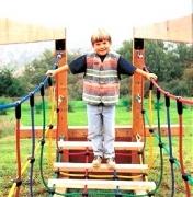 Канатный мостик  для детской площадки ш.80см деревянные ступени