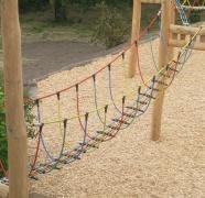 Подвесной веревочный мост для детской площадки в85см