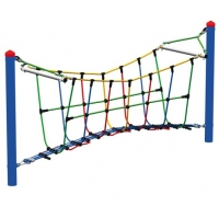 Подвесной канатный мост для детской площадки «Арочный мост» 3м