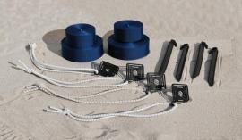 Разметка универсальная пляжная теннис, волейбол, 5см, 9х18