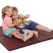 Гумова плитка. Резиновая плитка для детских спортивных площадок 50х50см