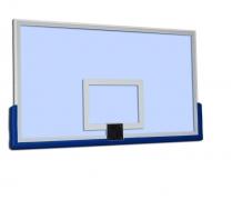 Баскетбольный щит каленное стекло 1,8х1,05м 12мм рама L защита